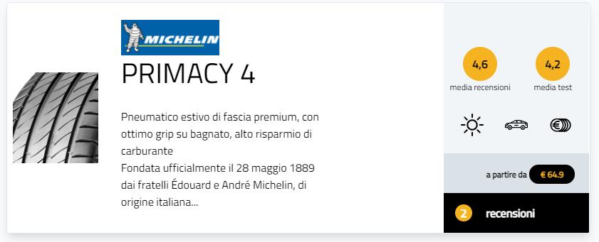 test TCS 2021 gomme Migliori pneumatici estivi 225/50 R17 recensioni