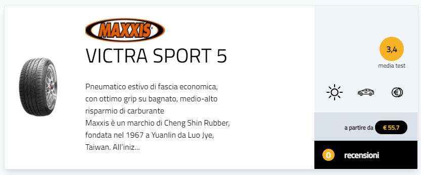 Classifica migliori pneumatici estivi sportivi 2021 255/35 R19 275/35 R19