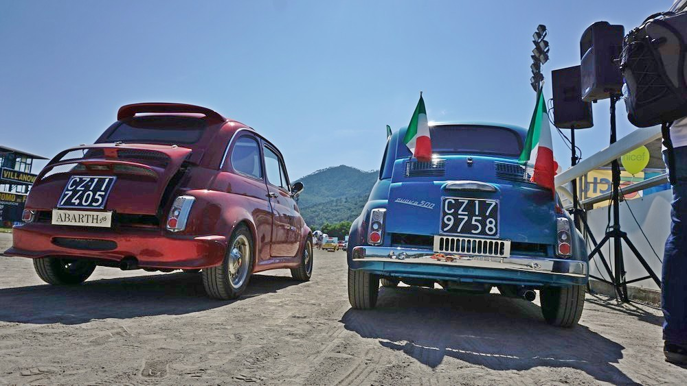 Fiat 500 World Meeting in 100 piazze di 21 nazioni raduno club quando dove tappe foto garlenda internazionale organizzatori