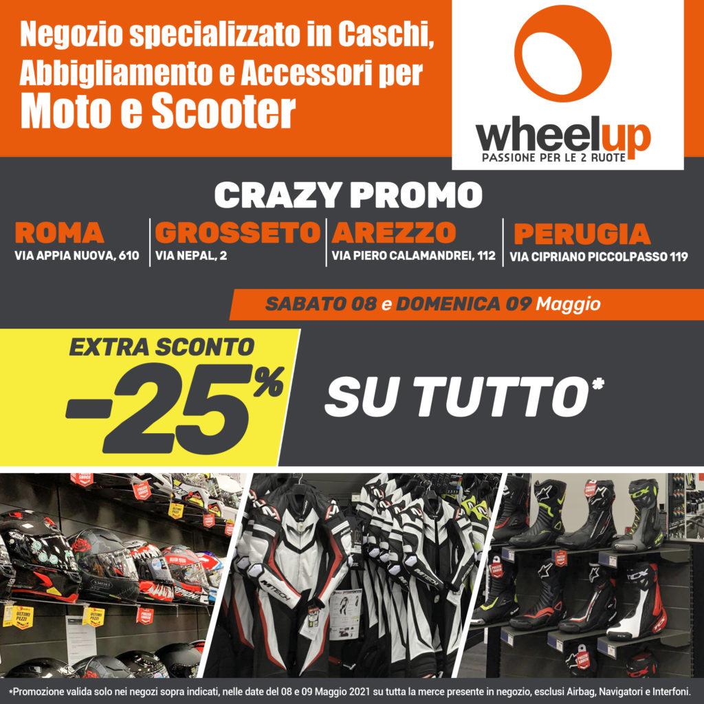 Wheelup Toscana e inaugura a Grosseto promozione sconti