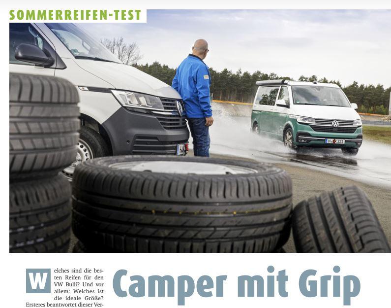 gomme furgonato camper-van furgonati, test migliori pneumatici Promobil camperisti confronto scegliere sicurezza misure Volkswagen Transporter T6.1