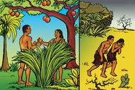 Picture 4: Adam and Eve; Blackfoot: Siksika ▪ Picture 4: Adam and Eve; First Nations English