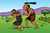 Picture 5: Cain and Abel; Blackfoot: Siksika ▪ Picture 5: Cain and Abel; First Nations English