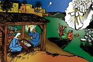 Jesus a-bambungguna (Picture 13: The Birth of Jesus)