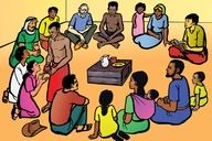 Abandu Owo Osabira (Picture 37: Meeting for Worship)