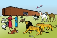 Nuhu ure a Jirire (Picture 5. Noah and the Great Boat)