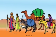 Ibrahima a fansare ge dadaamiyala (Picture 13. Abraham Leaves His Home)