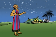 Wade na a maganana dadaamiya ge Ibrahima (Picture 16. Abraham Counts the Stars)