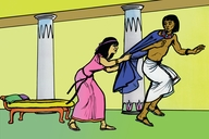 Thiperende 7 (Picture 7 Joseph Refuses Potiphar'S Wife)
