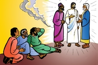 Yisaye musa manat (Picture 22. Jesus Speaks with Moses)
