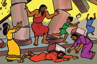 Picture 20. Samson Destroys The Philistines ▪ In this golden day at the Holy Time