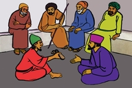 Bowaz Pamo Na wazele Betyulaham (Picture 5. Boaz and the Elders of Bethlehem)