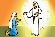 مريم مع ملاكة الل (Picture 6. Mary and the Angel of God)