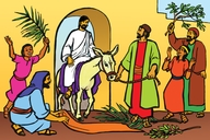 Picture 20. Jesus Comes into Jerusalem