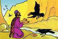 Yesu a bakanse shataine (Picture 21. The Birds Feed Elijah)