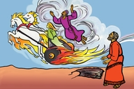 Picture 23. Elijah Goes to Heaven