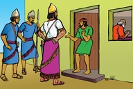 Background music ▪ LLL 5 introduction ▪ Picture 1. Naaman Visits Elisha's House