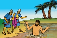 Gambar dua (Picture 2. Naaman in the River)