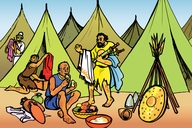 Picture 6: The Four Lepers; & Song - We are bringing the Good News to Everyone