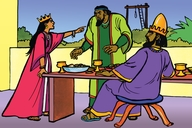 Ɛsta i fist (Picture 12. Esther's Feast)
