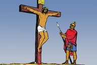 Jisɔs de na di krɔs (Picture 23. Jesus on the Cross)