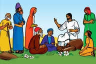 Picture 1: Jesus Teaches the People; - Matthew 5: 1-2