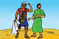 Picture 4: A Roman Beats a Jew; - Matthew 5: 38-42