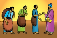 Picture 10: Workers Receive Their Pay; - Matthew 20: 1-16