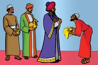 Picture 12: The Master and His Servants; - Matthew 25: 14-30