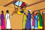 Picture 16: A Man Comes Through the Roof; - Mark 2: 1-12