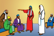 Picture 17: Jesus Heals a Man's Hand; - Mark 3: 1-5
