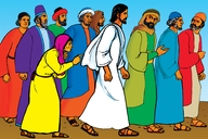 Picture 19: A Woman in the Crowd; - Mark 5: 24-34