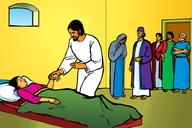 Yesu nende Omwana Omufu (Picture 20. Jesus and the Dead Child)