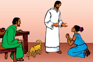 Yesu nende Omushere Weshivala Shindi (Picture 21. Jesus and the Foreign Woman)