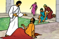 Picture 5: The Sick Man at the Pool; - John 5: 1-47