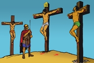 Yesu Anafwa Msalabani (Picture 10. Jesus Dies on the Cross)