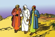 Gambar Tigabelas (Picture 13. Jesus Teaches Two Friends)