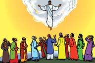 Okhumanyana Eluveka A ♦ Yesu Wavakhwa Amafura Yacha Mwikhulu (Introduction ▪ Picture 1. Jesus Goes up to Heaven)