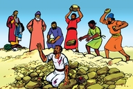 Picture 7: Stephen is Killed; - Acts 5:1-8:3