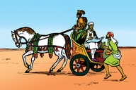 Picture 8: The Ethiopian Traveller; - Acts 8:4-8, 26-40