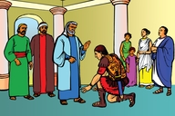 Picture 10: Peter and the Romans; - Acts 10:1-8, 17-48
