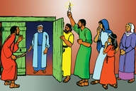 Picture 12: Peter and His Friends; - Acts 12:12-19