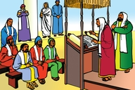 Picture 16. Paul Preaches about Jesus