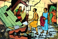 Amalolo Ka Paulo Nende Sila Mumurengo Kwesivala (Picture 18. Paul and Silas in the Earthquake)