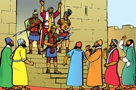 Picture 21. Soldiers Rescue Paul from the Jews