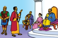 Paulo Koomdejin Laitorianik (Picture 22. Paul Preaches to Kings)
