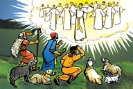 Abalisani Ne Mangiloi (Picture 10. The Shepherds and the Angels)