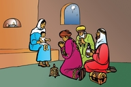 Picture 8: The Angel and Joseph; The Visit of the Wise Men