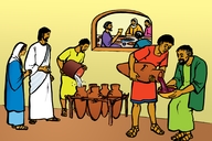 Omukiti Oma Sheshwa Mwa Kana (Picture 18. The Marriage Feast at Cana)
