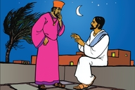 Picture 9: The Birth of Jesus; Jesus Teaches Nicodemus